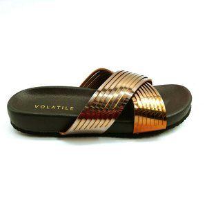 Volatile Womans Clotters Slide Sandal NEW